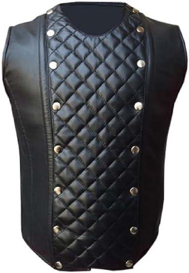 Mens  Lambs Leather Steel Boned STEAMPUNK Waistcoat Vest Corset GOTH  Victorian