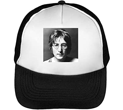 John Lennon Black White Portrait Gorras Hombre Snapback Beisbol ...