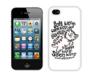 Fashionable And Durable Designed Case For iPhone 4 With Big Bang Theory Soft Kitty Warm Kitty (2) Phone Case