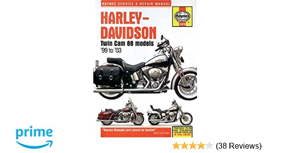harley davidson twin cam 88 models 99 to 03 haynes manuals bk rh amazon com Harley 103 Heat Problems Harley 103 HP