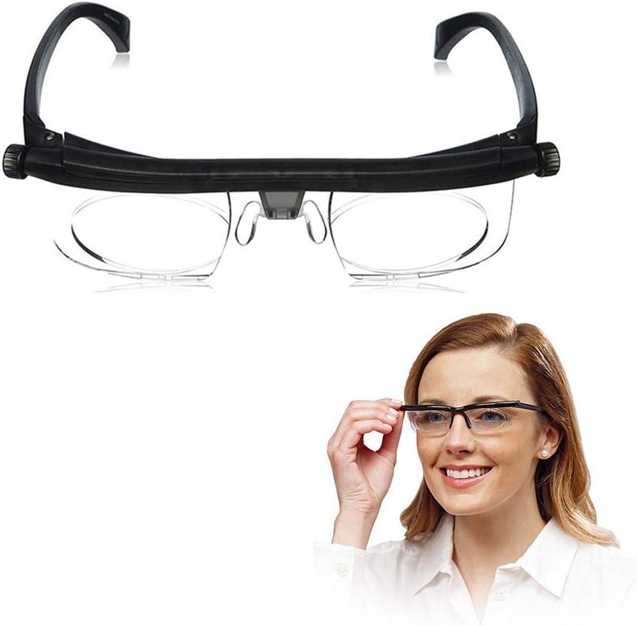 Chunse TR Foco Ajustable de Lectura lupas Anteojos -6Dto + dioptrías 3D Corrección de Lente Variable Gafas de Lectura por Ordenador de Las Lentes de conducción con la Caja de vidrios