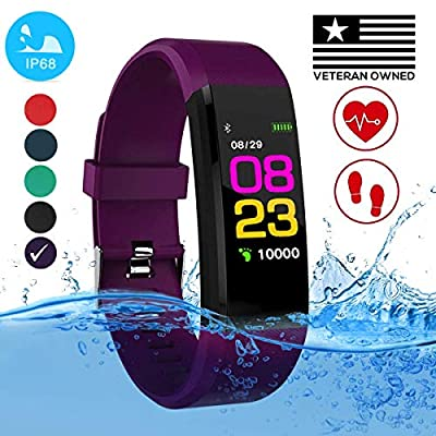 Burn-Rate Fitness Tracker, Heart Rate Monitor - Smart Watches for Women & Men, Color Smart Watch Bracelet. Reloj Inteligente Pedometer, Distance Activity for Android & iPhones iOS by Burn-Rate Fitness
