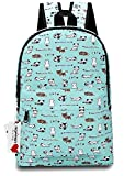 (US) Ropper Lightweight Canvas Cute Pattern Kids School Backpack,15