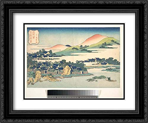 Katsushika Hokusai 2X Matted 24x20 Black Ornate Framed, used for sale  Delivered anywhere in USA