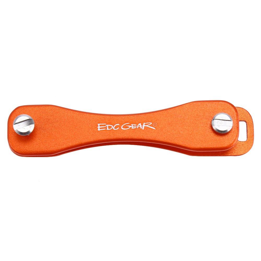 Tiptiper Portachiavi Smart Compact Key Holder, portachiavi in lega di alluminio Organizzatori di anelli chiave multi colori Strumenti di archiviazione, grande portachiavi regalo