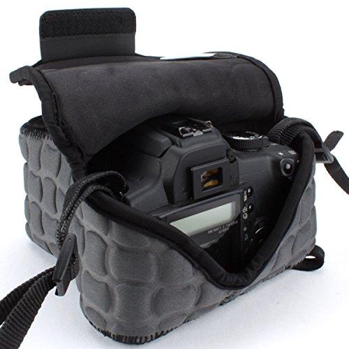 Neopren DSLR Kameratasche / Kamerahülle für Canon EOS 700D , Nikon D5500 , Fujifilm X-T1 und mehr digitale SLR-Kameras , USA Gear Xneo Flexsleeve (Grau / Schwarz mit Muster)