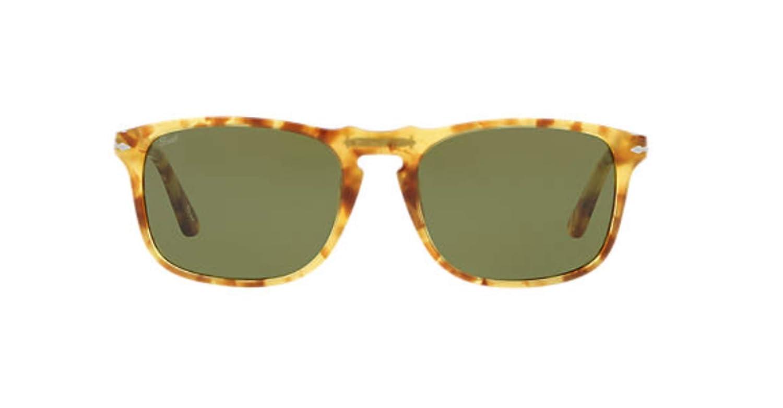 cc120b6f96ab7 Amazon.com  Persol PO3059S - 10614E Sunglasses TORTOISE YELLOW w  GREEN  Lens 54mm   Clothing
