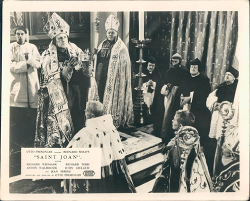 SAINT JOAN ORIGINAL LOBBY CARD JEAN SEBERG - Jean Pope