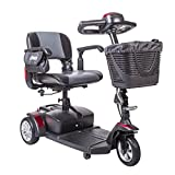 Drive Medical Spitfire Ex Travel 3-Wheel Mobility Scooter, 21AH Batteries