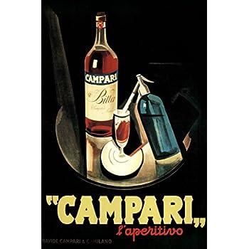 e897c4ab02fe Marcello Nizzoli Campari Laperitivo Alcohol Liqueur Vintage Advertising Art  Print Poster 12x18 inch