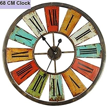 Kamas Large Wall Clock Saat Clock Duvar Saati Vintage Roman Numerals ...