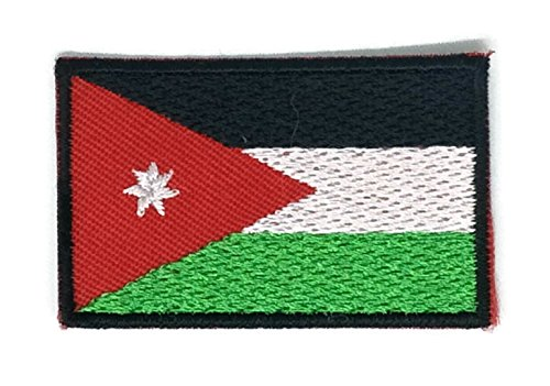 2 x 1.3 inches Jordan Flag Patch Sew Iron on Embroidered Badge Symbol - Online Jordan Store Canada