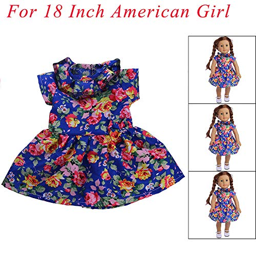 PSFS For18 Inch American Girl Dolls Clothes,Accessories Set Toys Dress Doll Clothes (F)