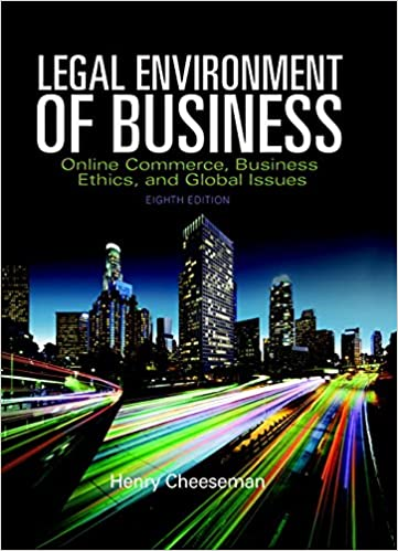 Legal environment of business online commerce ethics and global legal environment of business online commerce ethics and global issues student value edition 8th edition henry r cheeseman 9780134004068 fandeluxe Choice Image