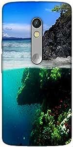 Snoogg Beauty Inside Designer Protective Back Case Cover For Motorola Moto X ...