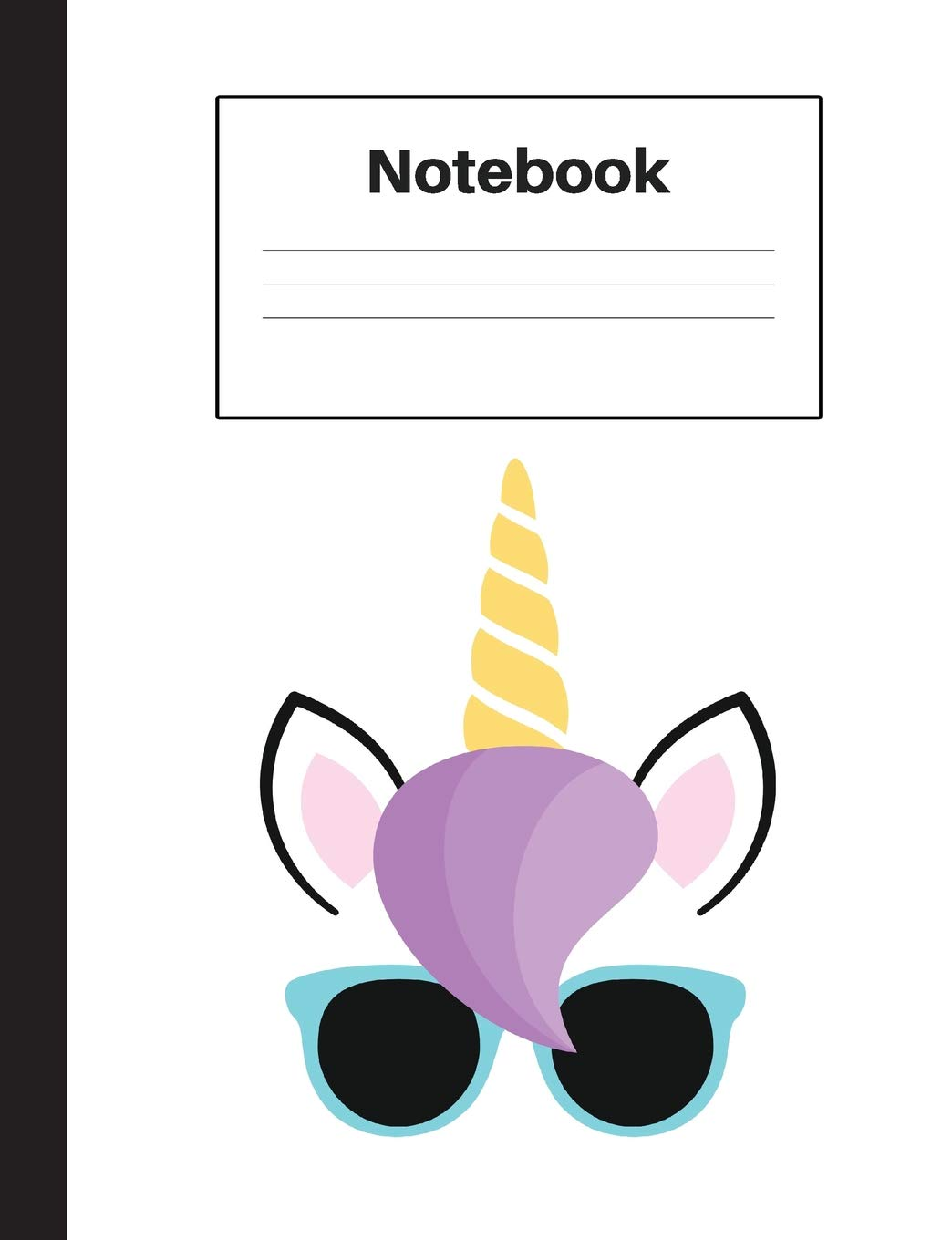 Read Online Notebook: Unicorn Blue Glasses, Graph Paper 5x5, Notebook Home Office School Student Teacher Homeschool, 7.4 x 9.7 in, 200 pages for kids, school, home, students, teachers (Unicorn Fun) pdf epub