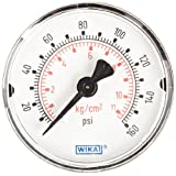 WIKA 9692830 Commercial Pressure Gauge, Dry-Filled, Copper Alloy Wetted Parts, 2