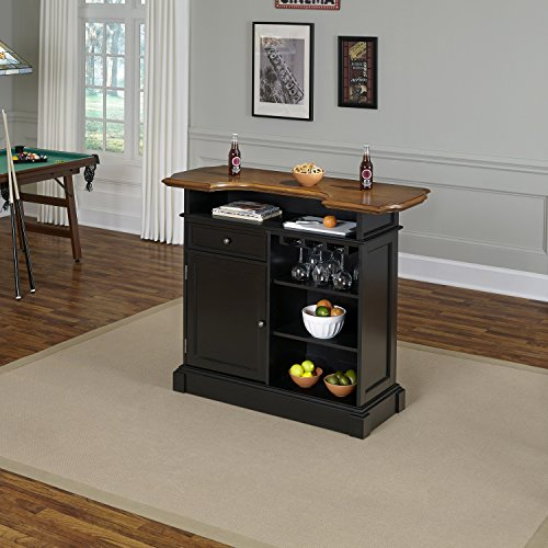 Home styles model 5003 99 black and oak finish americana for Home bar furniture abu dhabi