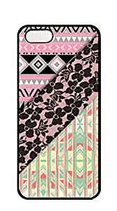 NBcase Chic Aztec Abstract Pink Orange Aztec Black Girly Floral Lace hard PC case for iphone 5 5s