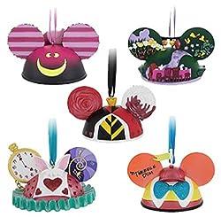Disney Parks Alice in Wonderland Ear Hat Ornament Set