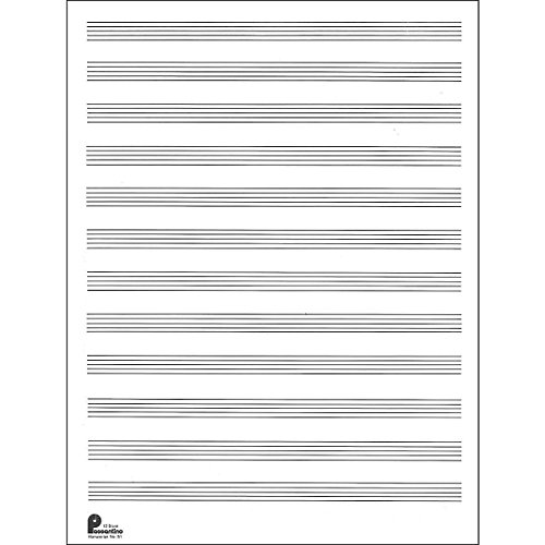 Music Sales Passantino Manuscript Paper Old #51, 12 Stave, 80 Pages, 9X12 (Standard)