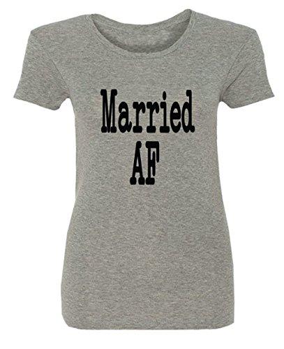 Married Af Wedding Hochzeit Nozze Gift Idea Damen T-shirt
