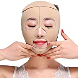 Facial Exercises To Lose Cheek Fat - Hennta Full Face Lift Masks Health Care Slimming Facial Beauty Bandage Belt Cheek Chin Facial Slim Up Belt Anti Wrinkle Massage Face Mask (XL)