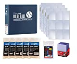 Ultra Pro Baseball Card Collector Starter Kit – Blue Album, 9 Pocket Pages, Sleeves, Top Loaders & Mini Snap Holders