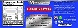 High Quality L-Arginine 1000 MG Nitric Oxide Formula by Doctor Recommended Supplements - Supports Cardio Health, Nitric Oxide Production , Stamina & More - 1 Month Supply
