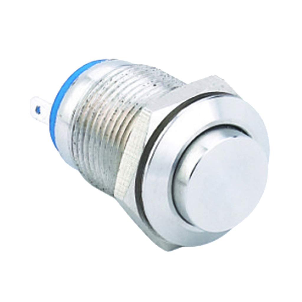 D Terminal Interruptor de Bot/ón Pulsador Met/álico de bloqueo de 10 mm 36 V