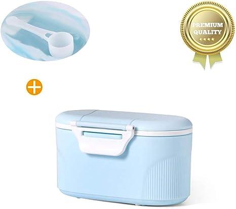 Sunshine smile Beb/é Port/átil en Polvo Stackable Box Dispensador de F/órmula,Set de recipientes para leche maternal,tupper infantile. Azul grande