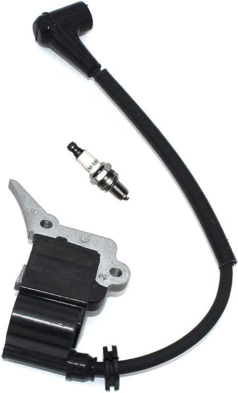 Ignition Coil Spark Plug CMR6H For McCULLOCH MCC1435 MCC1635 MCC1840 MS354 MS4018 MXC4018 PMC4018 MTD EB356 EB358 1435A 1635A 1640 1840 4016 4018 Troy-Bilt TB3516CC TB4018CC Parts # MC-9288-310801
