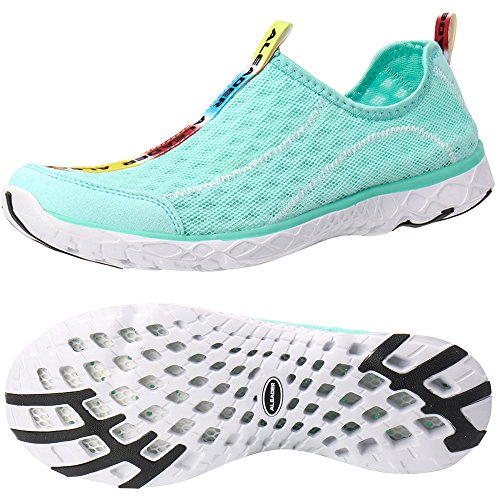 ALEADER Women's Mesh Slip On Water Shoes New Mint 9.5 D(M) US