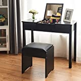 Product review for Giantex Vanity Makeup Dressing Table with Flip Top Mirror 2 Drawers 3 Removable Organizers, Black