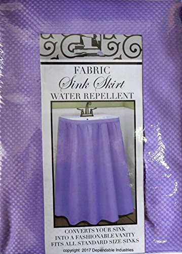 - Fabric Sink Skirt Mosaic Stitch Lavender