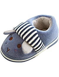 Cute Home Shoes, Kids Fur Lined Indoor House Slipper Bunny Warm Winter Home Slippers Girls(Toddler/Little Kid)