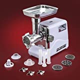 STX INTERNATIONAL Turboforce Model STX-3000-TF Electric Meat Grinder with 3 Speeds, 3 Cutting