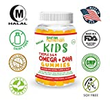 Cheap SHIFAA NUTRITION Halal, Vegan & Vegetarian Gummy Omega 3-6-9 + DHA for KIDS | Supports Brain, Body and Immune Functions | Non-GMO & Free of Preservatives, Gluten, Nuts, Dairy & Soy – 60 Gummies