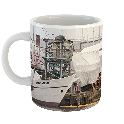 Westlake Art - Dock Ship - 11oz Coffee Cup Mug - Modern Picture Photography Artwork Home Office Birthday Gift - 11 Ounce (CE54-6FBE2)