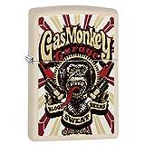Zippo Gas Monkey Garage Pocket Lighter, Cream Matte