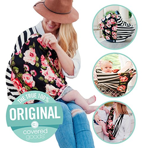 Covered Goods - The Original Multi Use Maternity Breastfeeding Nursing Cover, Infinity Scarf, and Car Seat Cover - Floral Mismatch (Seat Car Cover Toddler Floral)