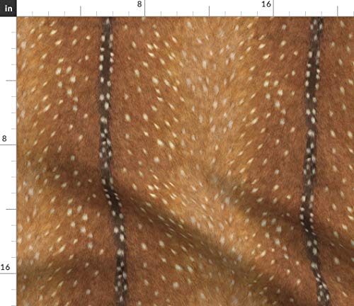 Spoonflower Fawn Fabric - Fawn Hide Doe Skin Deer Woodland Hunting by Willowlanetextiles Printed on Minky Fabric by The Yard