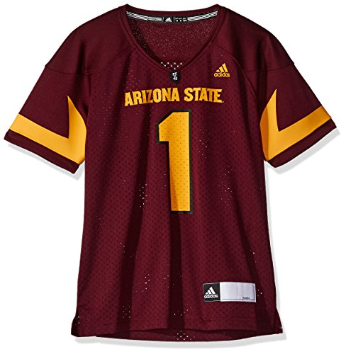 (adidas NCAA Arizona State Sun Devils Adult Women Women's Football Jersey, Large, Maroon)