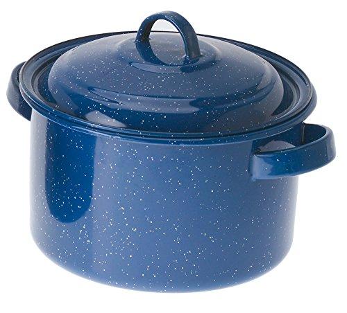 GSI Outdoors 5.75-Quart Stock Pot, Blue (Enamelware Stock Pot)
