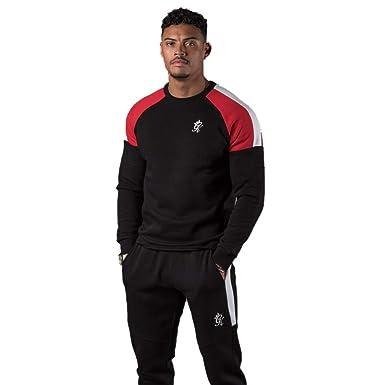 ddea647d6f5 Gym King Core Plus Contrast Sweatshirt Black/Red/White: Amazon.co.uk:  Clothing