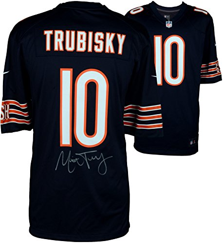 Mitchell Trubisky Chicago Bears Autographed Nike Navy Game Jersey - Fanatics Authentic Certified - Autographed NFL Jerseys ()