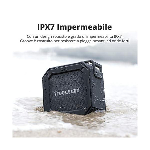 Tronsmart Cassa Bluetooth Waterproof IPX7, Riproduzione di 24 Ore con Basso, TWS Stereo Suono 360°, Altoparlante… 4 spesavip