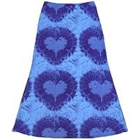 Dam hjärttryck boho midikjol damer hög midja A-linje smal passform kjol Y2k Harajuku E-Girl 90-talet A Line daglig wear