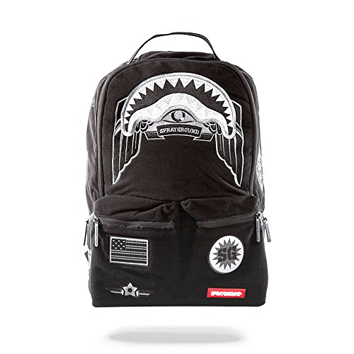 Sprayground Ghost Shark Army Patches Backpack by Sprayground