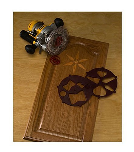 Milescraft 1208 Turnlock Wood Design Router Inlay Pattern Cutting